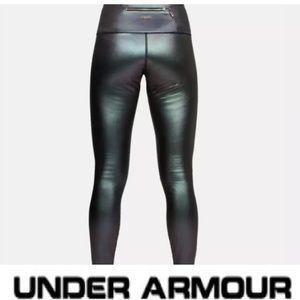 UA Lindsay Vonn sicario metallic thick ski tights